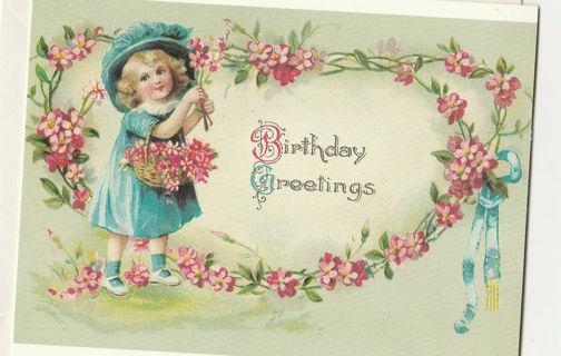 Vintage Birthday Card Card Unused With Envelope