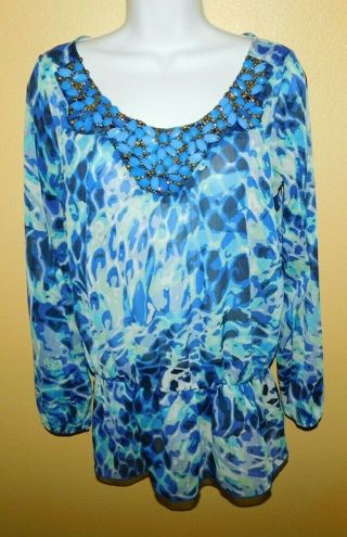 Gorgeous Tunic Blouse Womens S By Celine Gypsy/Poet MINT!!!