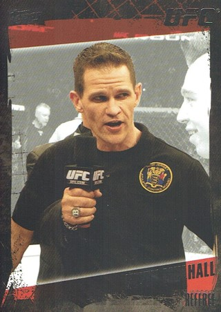 UFC MMA 2010 Topps Collectible Trading Card (Thick Card) Kevin Mulhall Referee #180