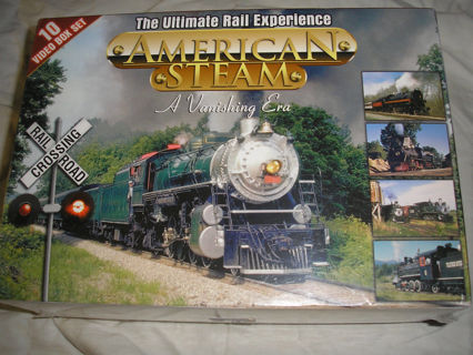Ultimate Railroads AMERICAN STEAM great senic sites 10 vhs BOXED SET