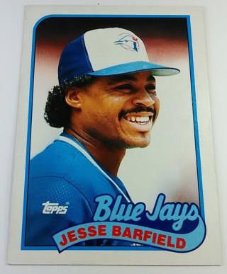 JESSE BARFIELD 1989 BASEBALL CARD
