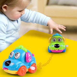 Clockwork Funny Toy Cartoon Puppy Tongue Clockwork Car Educational Toys No Noisy
