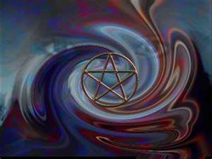 Free: Wiccan Pentagram Swirl Wallpaper