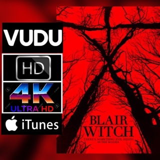 BLAIR WITCH HD VUDU OR 4K ITUNES CODE ONLY