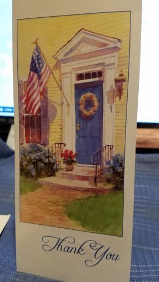 """A DIFFERENT KIND OF """"THANK YOU"""" CARD W/ MATCHING ENVELOPE"""