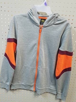 NWT! ATHLETIC WORKS BOYS ZIPPERED HOODIE-Size L (10-12) HUSKY