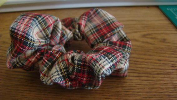 tartin plaid hand made scrunchie