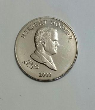 2000 Republic Of Liberia 5 Dollar Coin