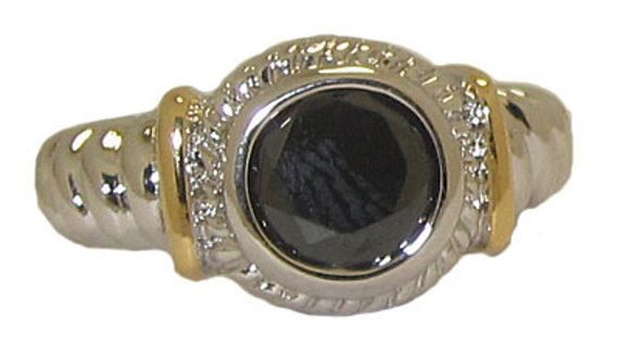 TWO TONE CABLE RING in MANY COLORS & SIZES 18 KARAT GOLD GREAT STYLISH JEWELRY