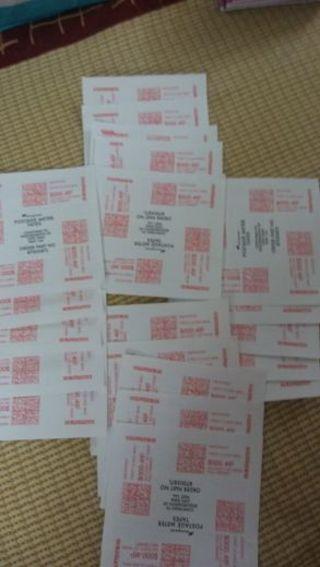 "50 postage stamps""labels PREPRINTED"""