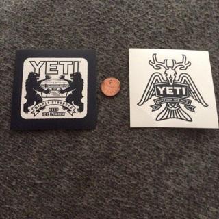 2 Yeti Cooler Stickers