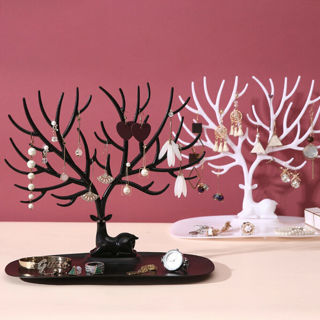 [GIN FOR FREE SHIPPING] Deer Tree Jewelry Stand Display Organizer Holder Show Rack