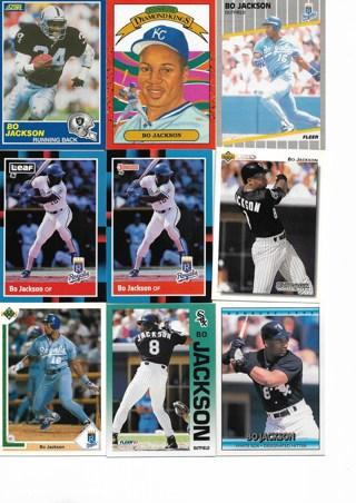(9) Bo Jackson Cards