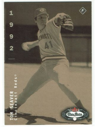 Tom Seaver 2002 Fleer Box score Cincinnati Reds