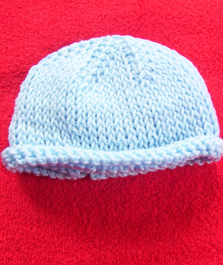 Free Hand Crocheted Tunisian Stockinette Stitch Baby Hat Other
