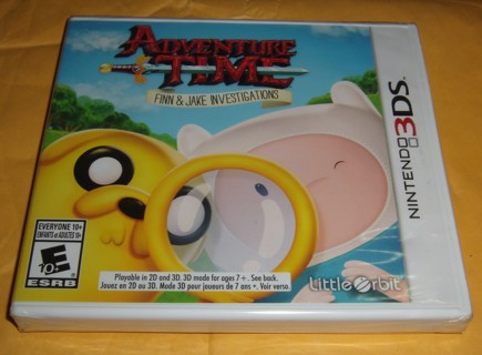 Adventure Time: Finn & Jake Investigations 3DS BRAND NEW SEALED