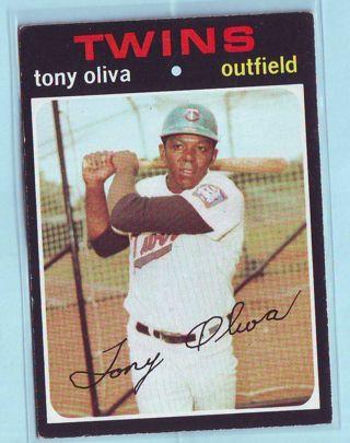1971 Topps Tony Oliva Baseball Card # 290 Twins