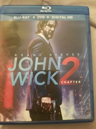 John Wick 2 double pack ( Blue Ray and DVD)
