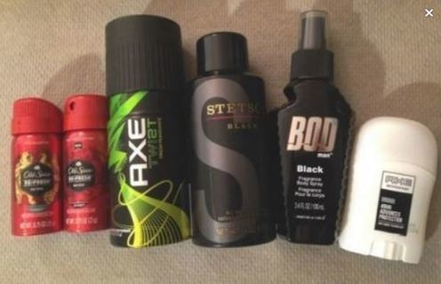NEW Fragrance LOT Axe Old Spice Stetson BOD & Axe Mini Deodorant Included FREE SHIPPING