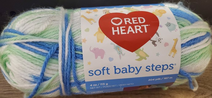 "NEW - Red Heart Soft Baby Steps Yarn - ""Puppy Print"""