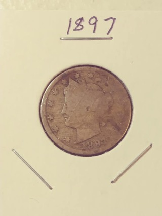 1897 Libery Victory Nickel! 98