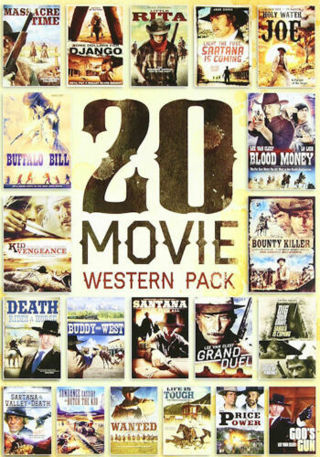 2012 Echo Bridge 20 Movie Western Pack 5 Dvd's Movies-New & Sealed