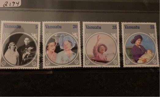 MNH Vanuatu stamp set