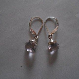 925 sterling silver rose de france (pink amethyst) earrings
