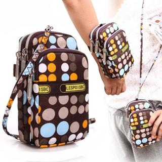 Women's Fashion Printing Zipper Sport Shoulder Bag Mini Wrist Purse