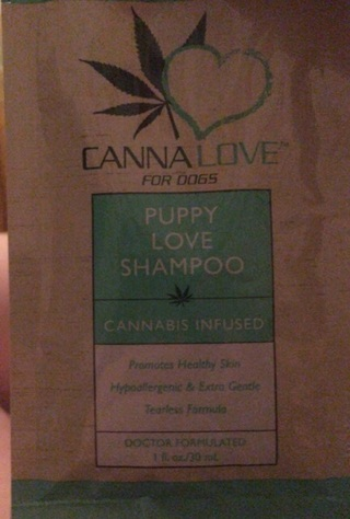 Dog shampoo with Cannabis infused