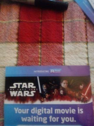 Star Wars The Last Jedi MA Code