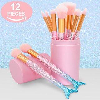 Makeup Brush Cosmetic Brushes Kit Tools 12PCS Foundation Eyebrow Eyeliner Blush Concealer Brushes