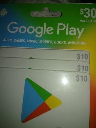 Google play $30