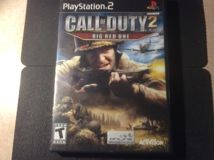 """PlayStation 2 Call of Duty 2 """"Big Red One"""" rated T (Teen) GIN 200 wins and You Pay Postage"""