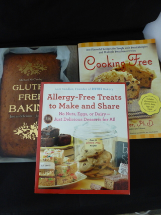 Lot of 3 Gluten Free Allergy Free Cookbooks