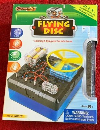 Connex Flying Disk - DIY Educational Science Fun - Flying over 1m into the Air