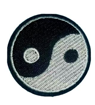 Yin and Yang balance sign patch iron on New free ship