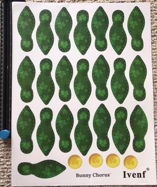 Large Sheet of Leprechaun Feet Stickers
