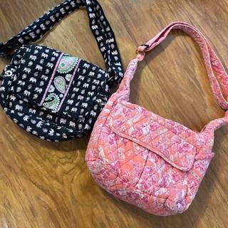 Two VERA Bradley Pursed Handbags totes