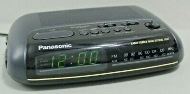 Panasonic RC-6099 Clock Radio Tender Wake-Up Radio AM/FM Dual Alarms
