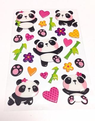 Puffy 3d panda stickers