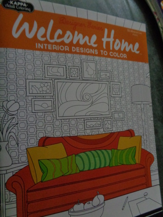 Free: KAPPA ADULT COLORING BOOK DESIGNER SERIES ~WELCOME HOME ...