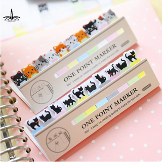 2Pcs cute kawaii Mini memo pad sticky Notepaper Post-it note cartoon animal bear cat frog sticker