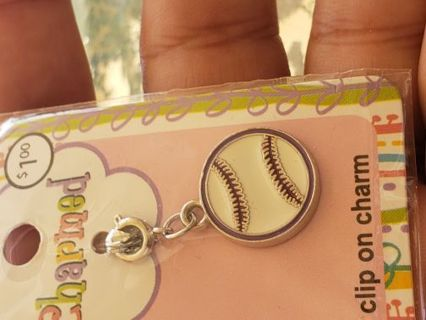 New in pkg. Cute baseball charm