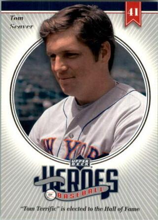 Tom Seaver - 2002 Upper Deck Heroes of Baseball #HTS9 - MINT CARD - Hall of Famer