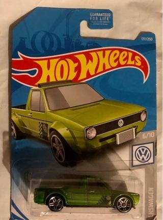 "BNIP ""HOT WHEELS"" Green Volkswagen Caddy Car!! 'Guaranteed For Life'"