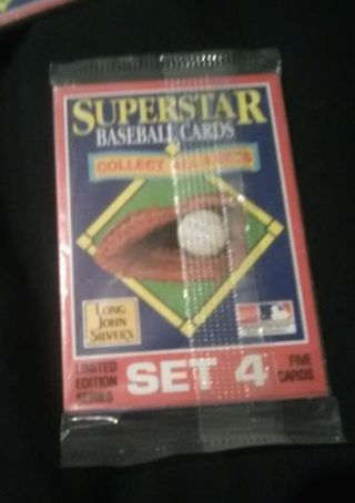 New Unopened Pack of baseball cards-Set 4/Read description before bidding