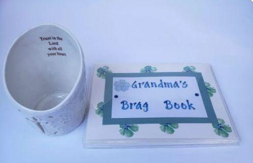 Grandmas Brag Book Picture Book & Candle Holder #G