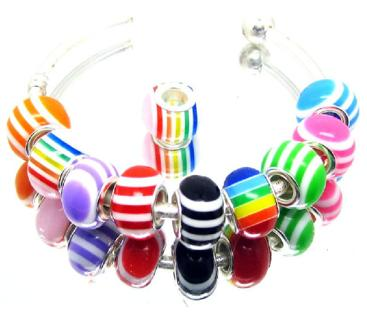 Pandora Euro Style✿LUCKY 7 Pieces Beads✿Random Color Beads May fit Bracelet