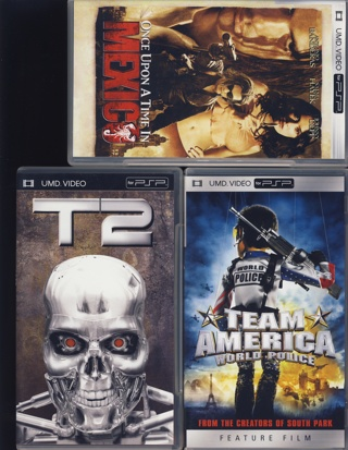 LOT 3 UMD VIDEO FOR PSP MOVIES TERMINATOR 2 ONCE UPON A TIME IN
